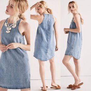 Lucky Brand Sleeveless Denim SnapBack Dress